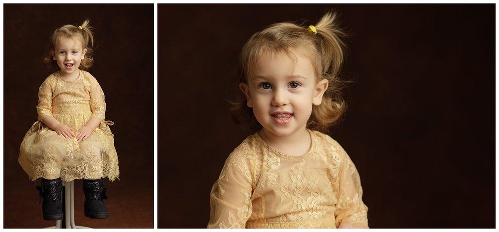 toddler's studio portraits in Charlestown, RI