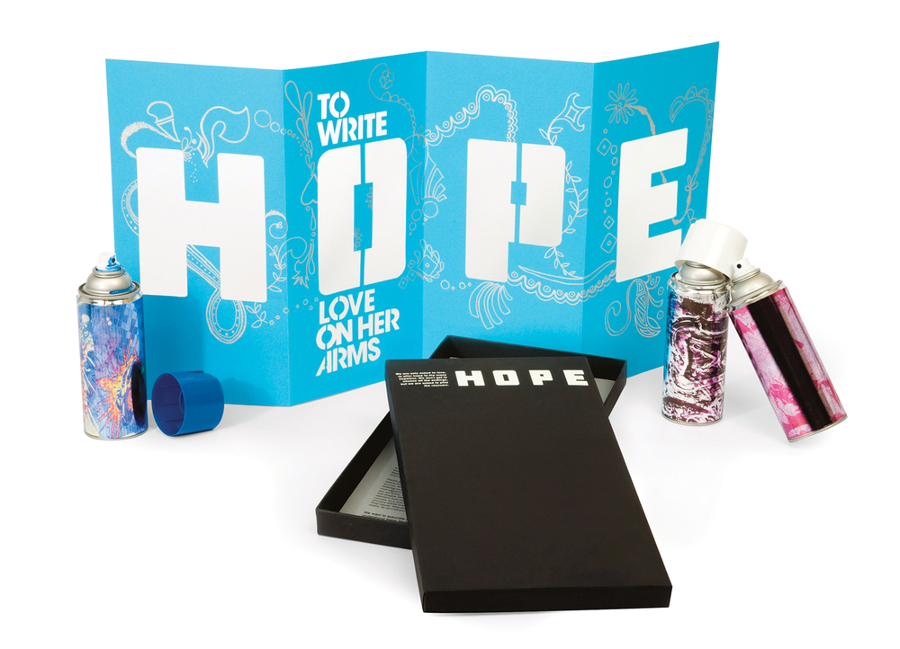 Hope Poster, Packaging & Spray Paint, Julie Rado