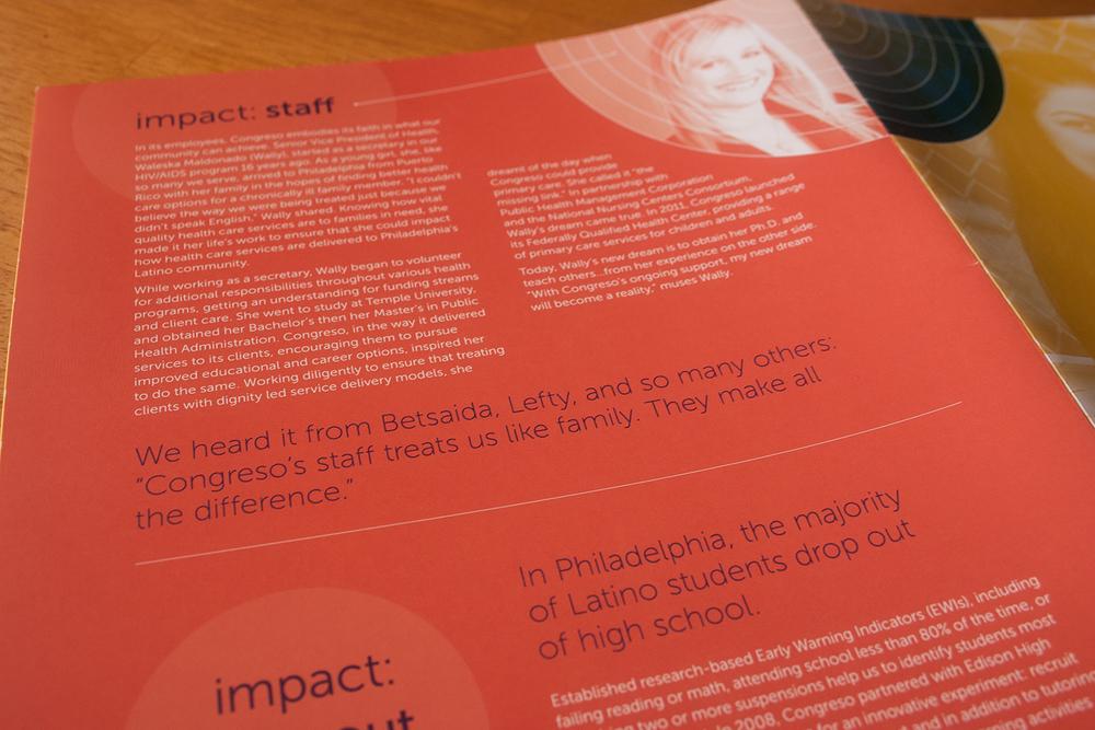 Congreso 2011 Annual Report, Julie Rado/Untuck Design