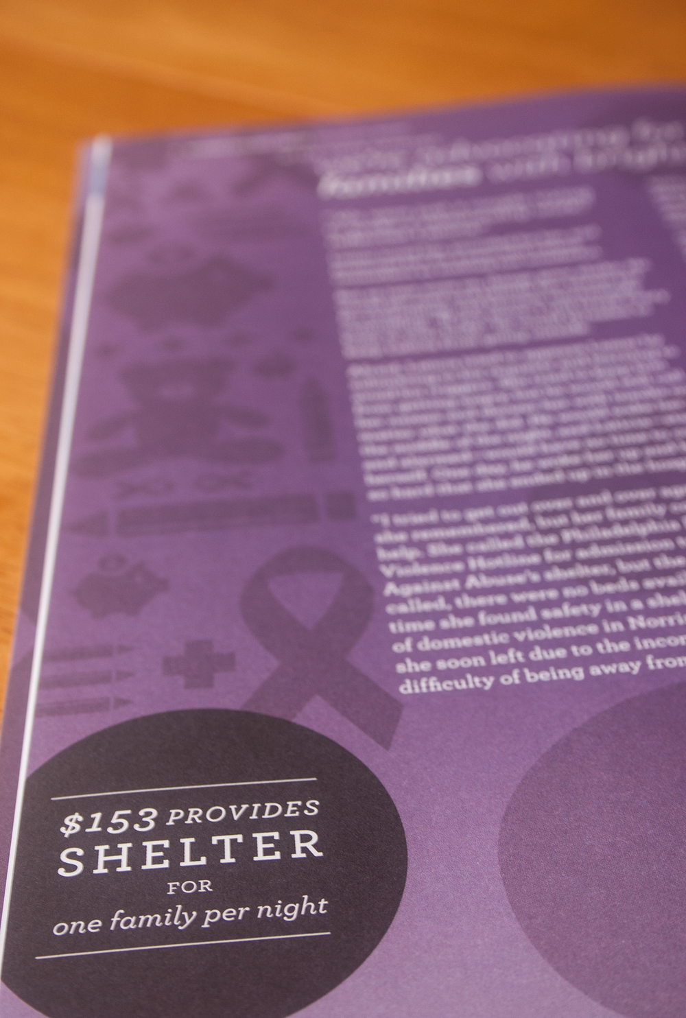 Women Against Abuse 2011 Annual Report, Julie Rado/Untuck Design