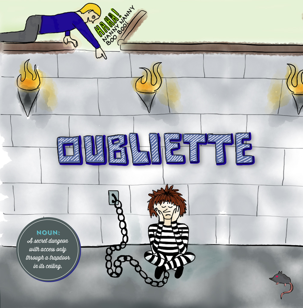 Visual Vocabulary: Oubliette illustration, Julie Rado Design