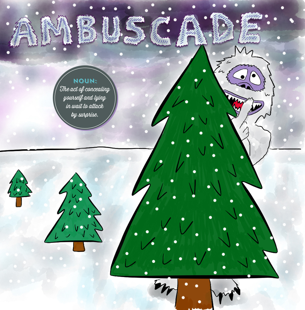 Visual Vocabulary: ambuscade illustration, Julie Rado Design