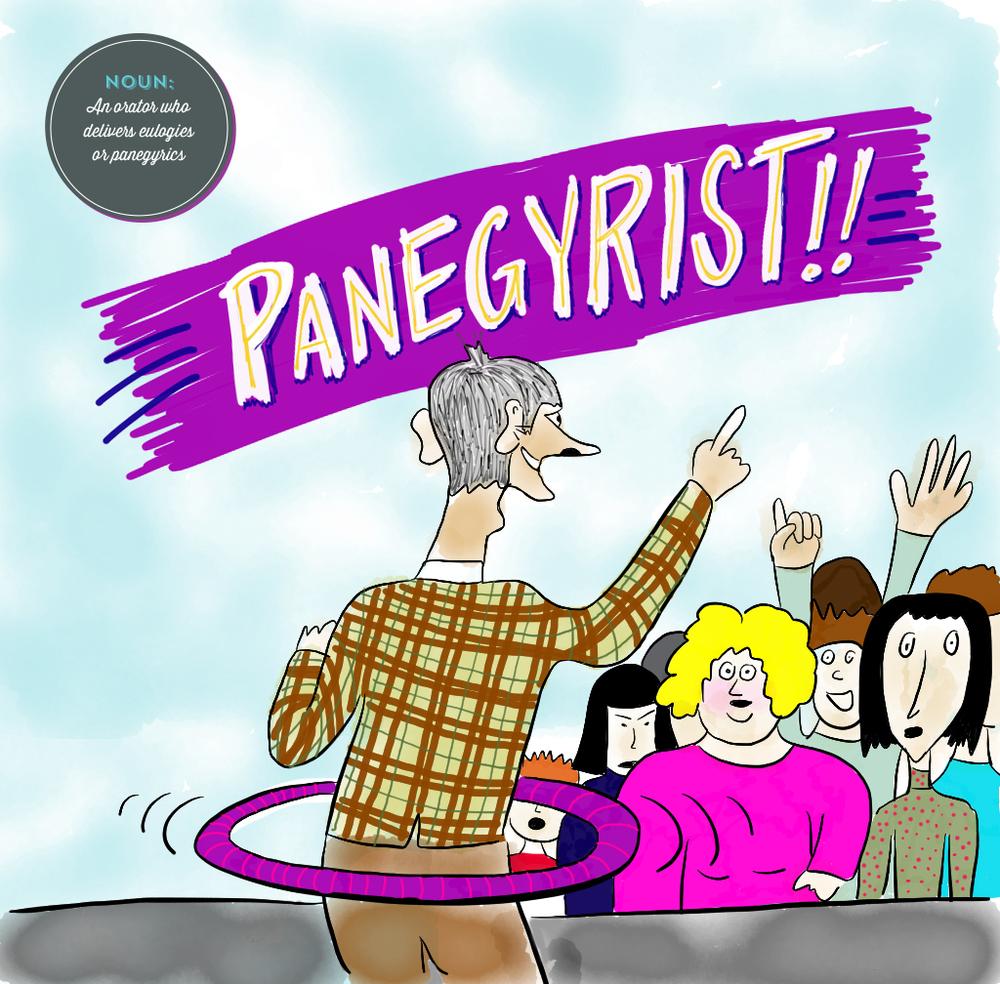 Visual Vocabulary: panegyrist illustration, Julie Rado Design