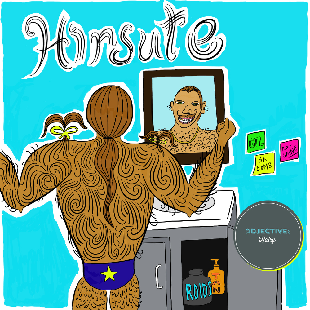 Visual Vocabulary: hirsute, Julie Rado Design