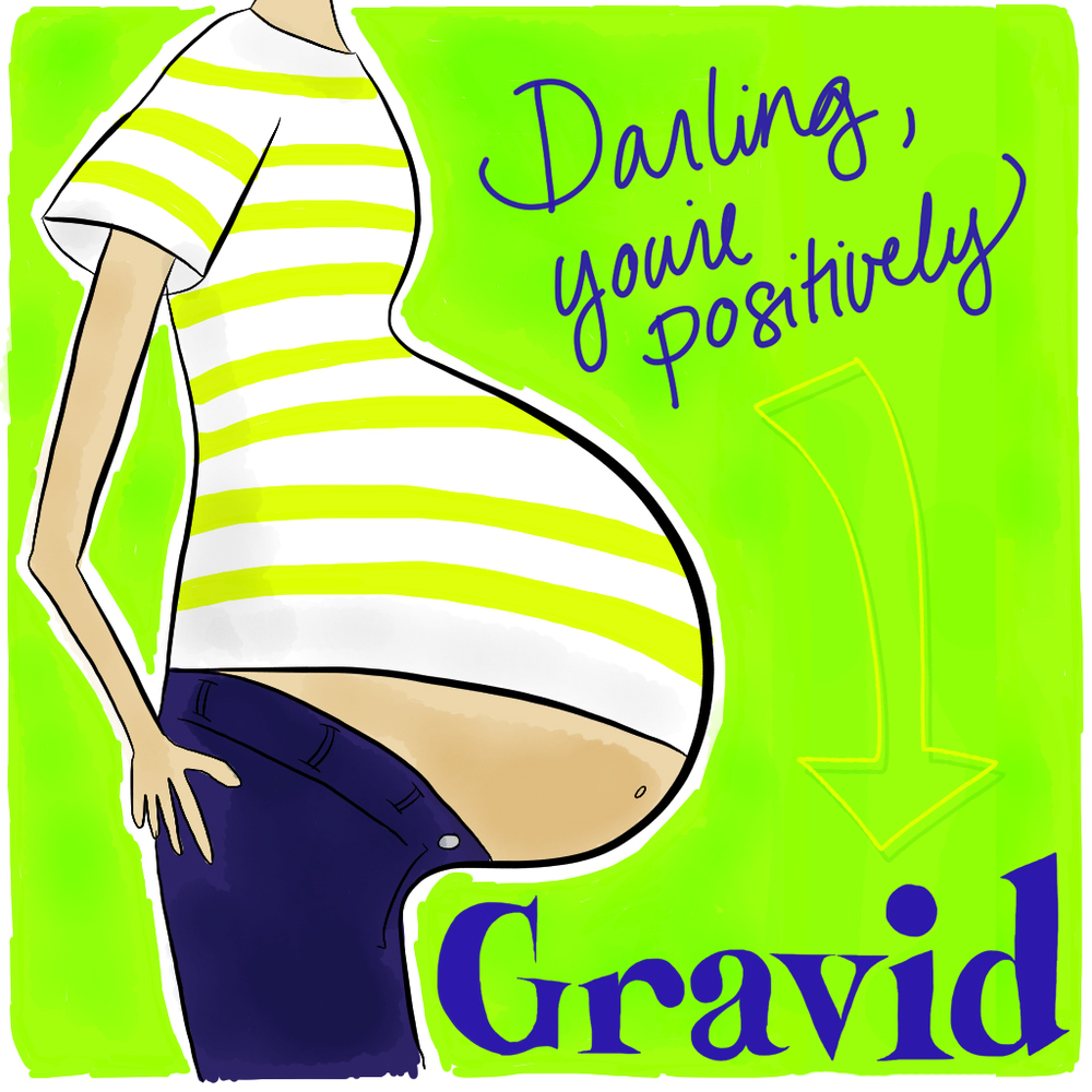 Visual Vocabulary: gravid, Julie Rado Design