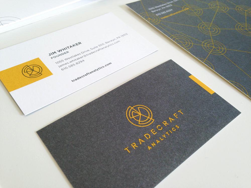 Tradecraft Analytics Logo & Collateral, Julie Rado / John Saal / Amy Saal at Untuck Design