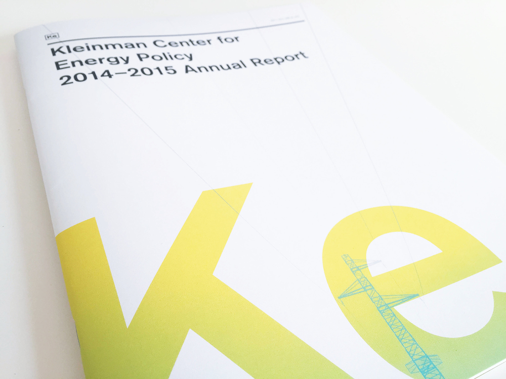 Kleinman Center for Energy Policy 2014–2015 Annual Report, Julie Rado / John Saal / Amy Saal at Untuck Design