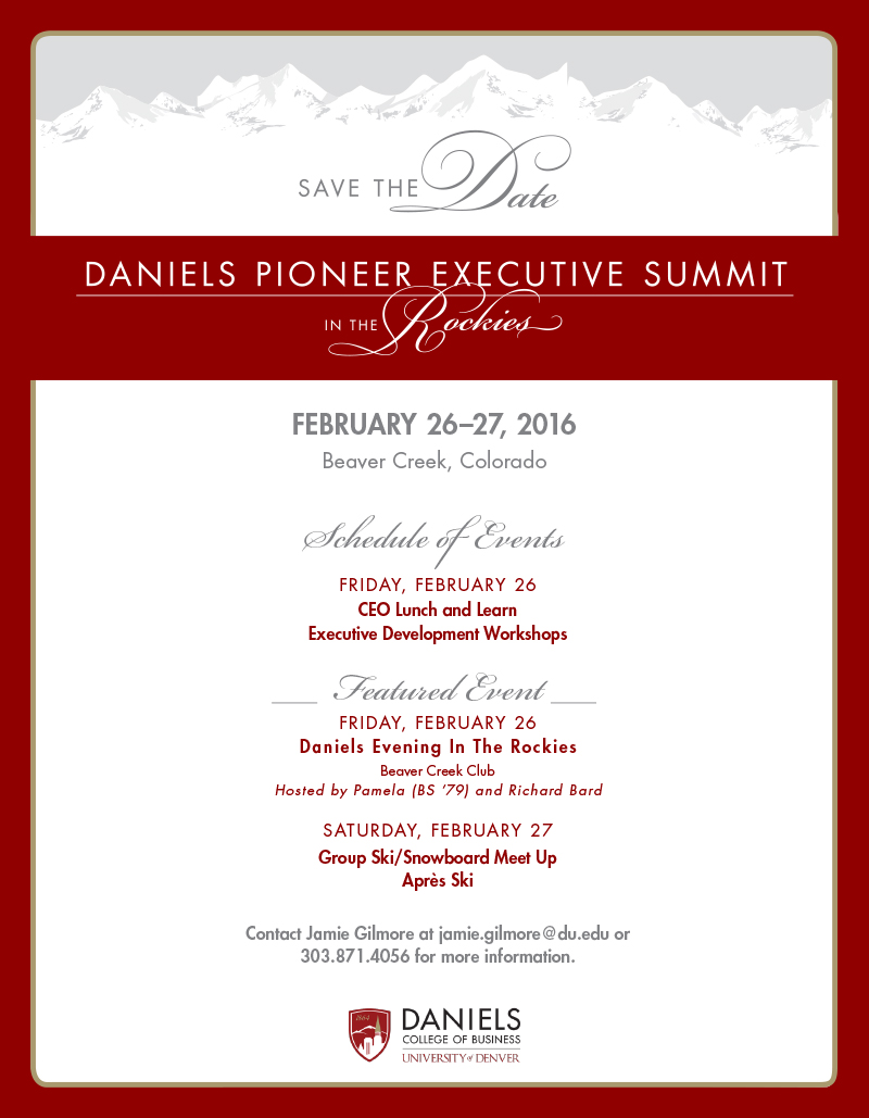 Executive Summit - Save the Date