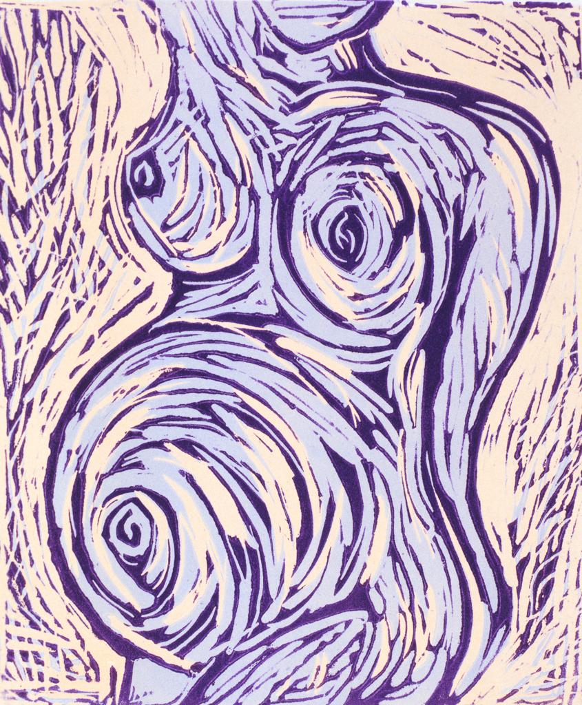 Reductive Linocut Print