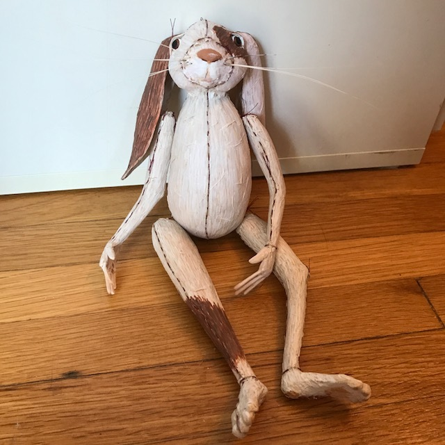 Flop eared rabbit sculpture anthropomorphic fine art