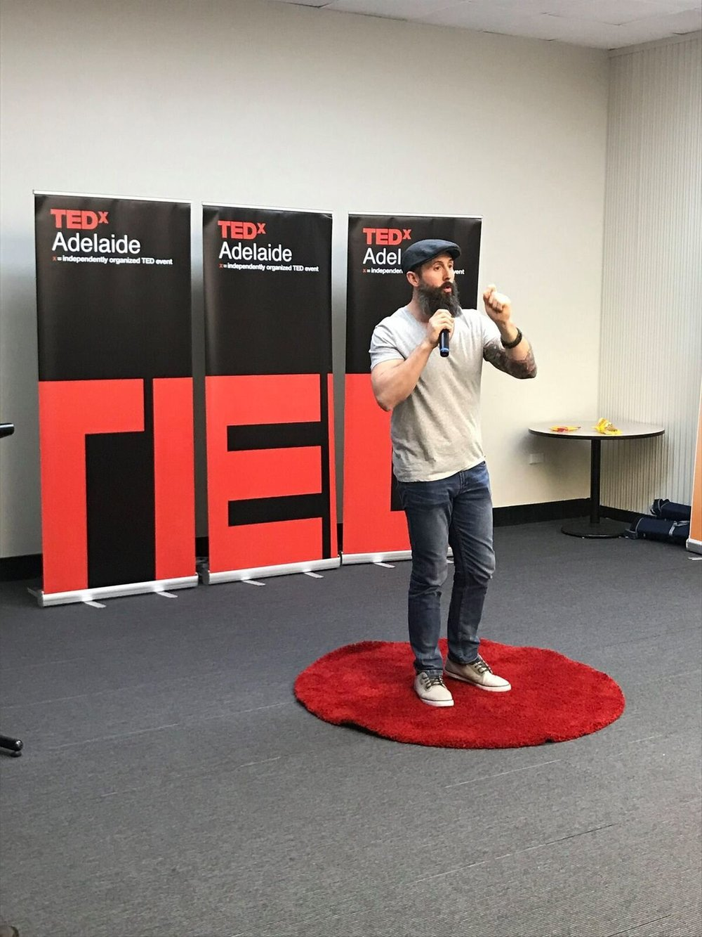DANIEL PANOZZO AT OPEN MIKE TED TALK (ADELAIDE)