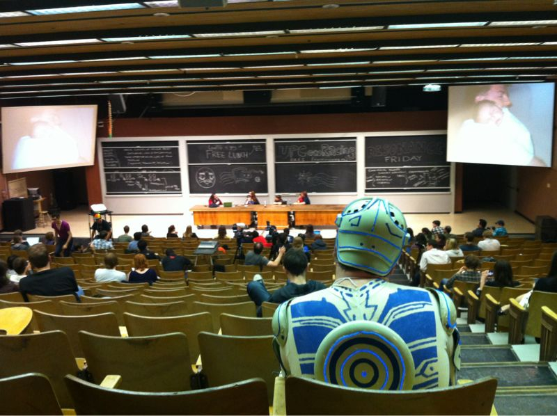 Sitting behind Tron Guy at a panel with David After The Dentist and Success Kid and their parents. Is this real life? #ROFLcon