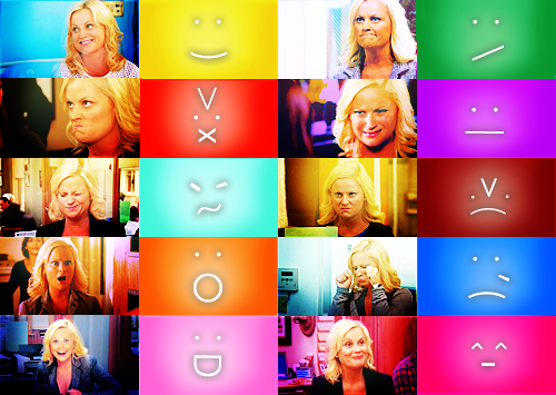 knowyourmeme :     We <3 Leslie Knope!   For more,  KYMdb - Emoticons     (via  FunnyOrDie )