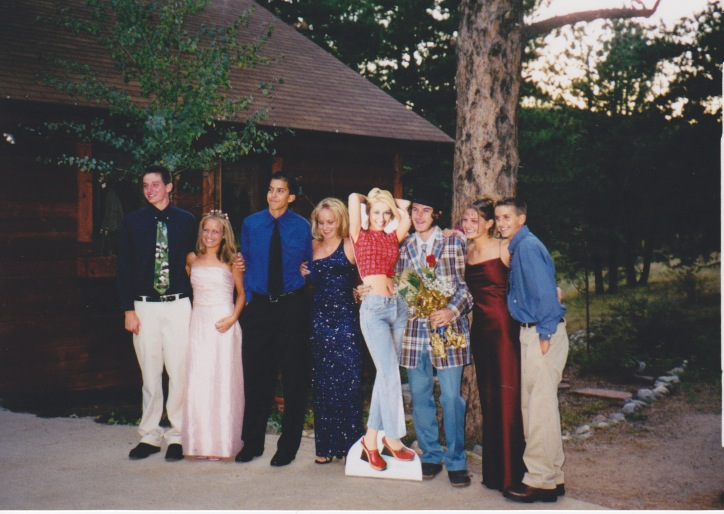 Photo from sophomore year of high school homecoming dance. Can you guess which one is me? via whatididforlovecomedy: NATE DERN took a cardboard cutout of Christina Aguilera to his sophomore year of high school homecoming dance as his date.  Nate is also a cast member of WHAT I DID FOR LOVE, a new weekly improv comedy show Fridays at 7:30pm at UCBeast. We interview an audience member about their love life. The interview inspires hilarious improv comedy.  Make reservations here.