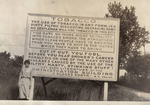 Anti-smoking sign from 1915 - Boing Boing