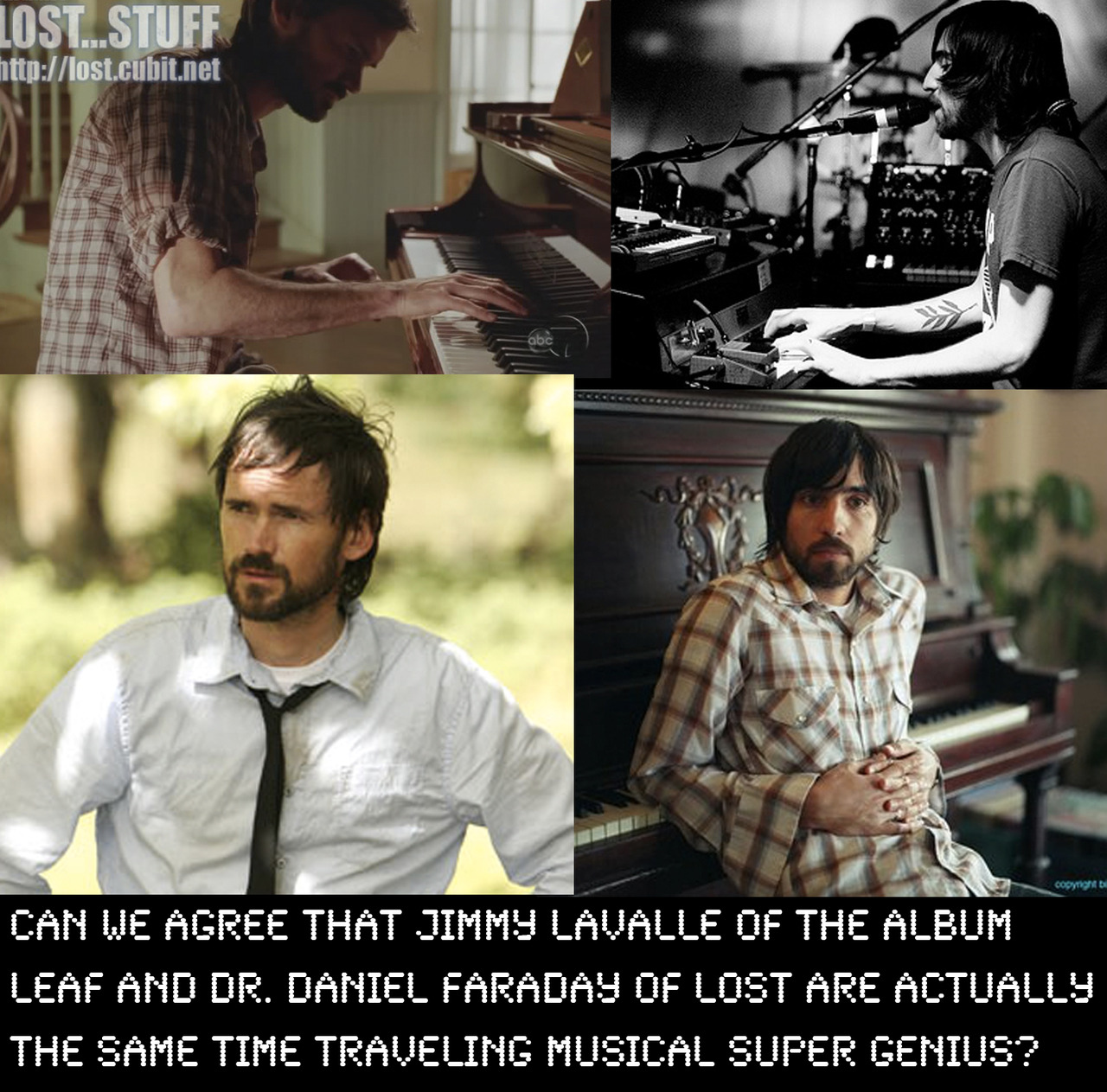 Can we agree that Jimmy LaValle of The Album Leaf and Dr. Daniel Faraday of Lost are actually the same time traveling musical super genius?