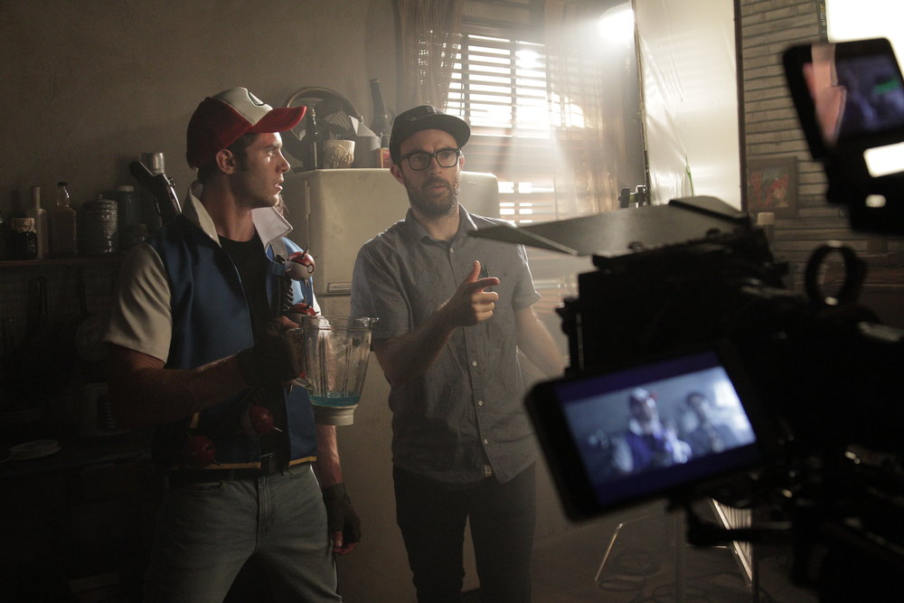 On the set of Funny Or Die's  Ash vs Evil Pokemon  directing Blake Jenner as Ash Ketchum. Photo by Rob Hatch-Miller.
