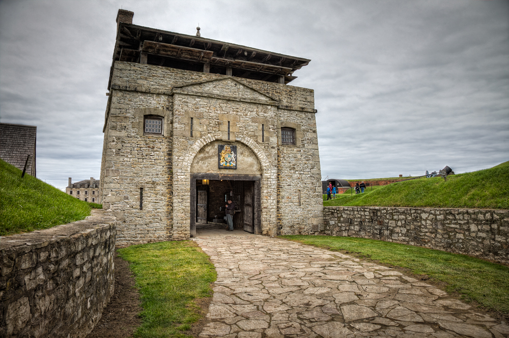 Main gate of fortress.