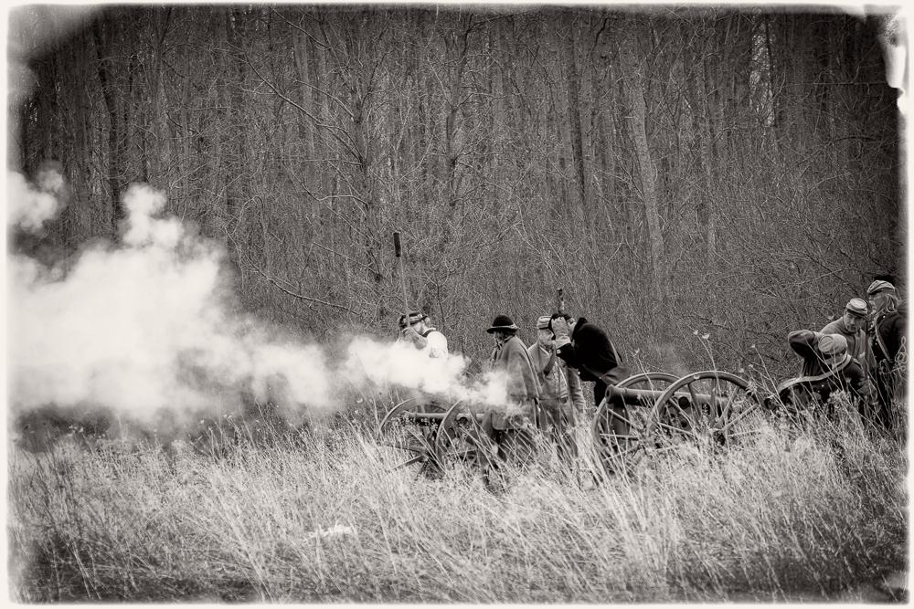 Union artillery.
