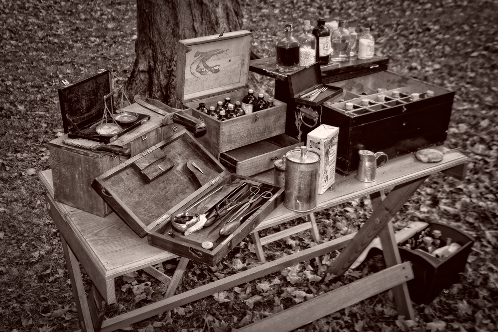 Primitive and crude medicine of the time.
