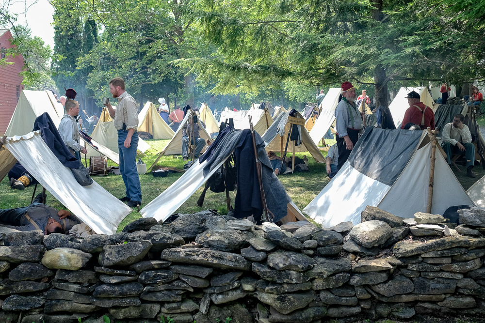 Union camp in the village