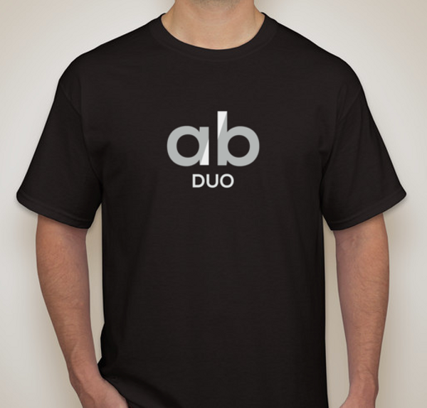 100% cotton A/B Duo logo t-shirt