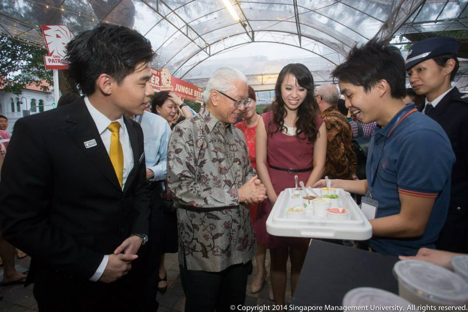 With Mr President of Singapore, Tony Tan.