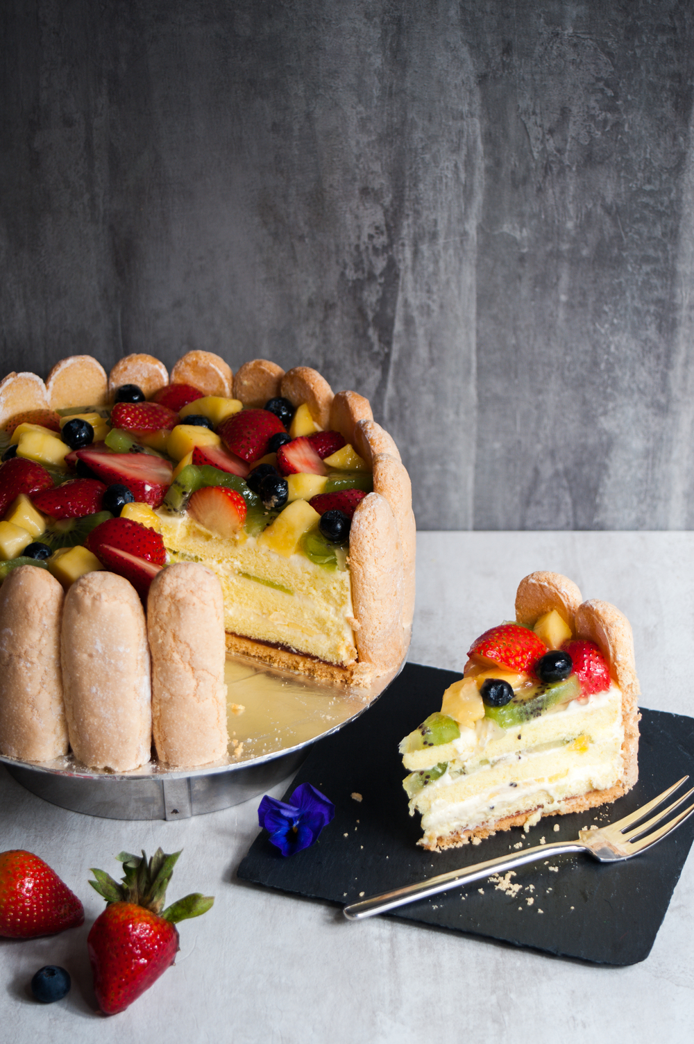 Mixed Fruit Charlotte