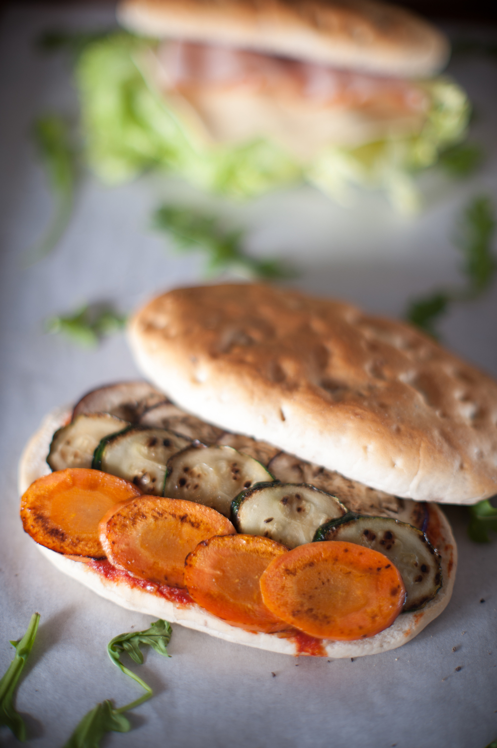 Roasted summer vegetable