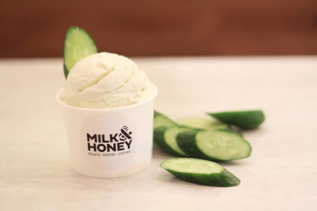 Hang in there folks, we are mid-way through the week. Here's something to keep u going 💪🏼😅A refreshing cucumber taste yogurt 😋#milkandhoneygelato