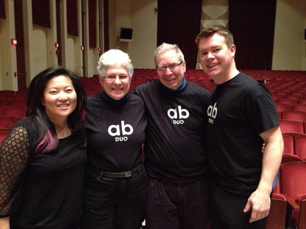 With Arlene and Larry Dunn after the concert at Oberlin Conservatory.