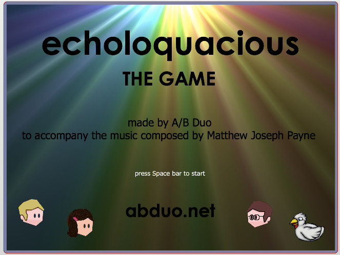 We made a video game to go with Matthew Joseph Payne's composition. You can play it  here.
