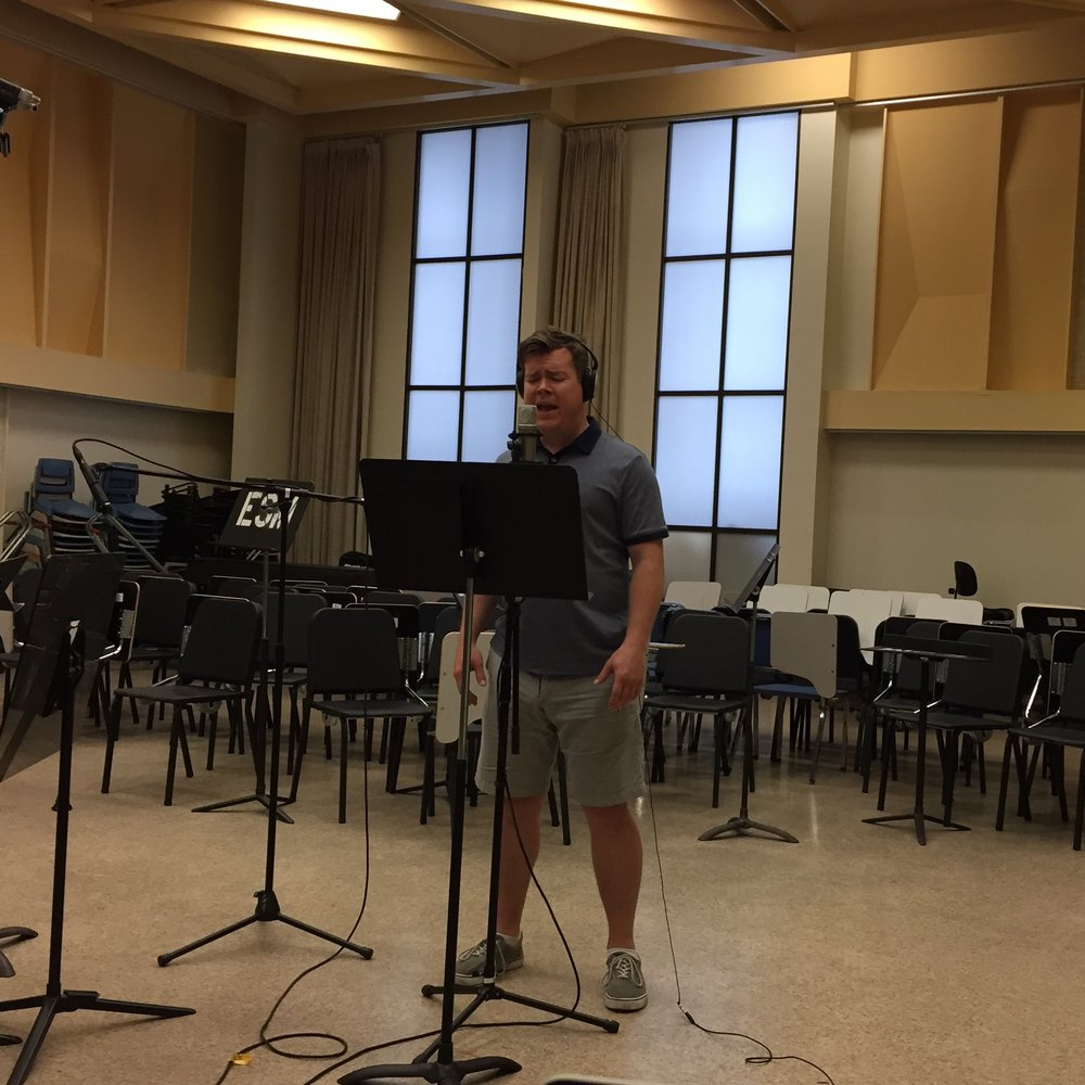 Instead of fancy recording studios, we tracked the flute. percussion, and vocals ourselves in a rehearsal room at the Eastman School of Music.