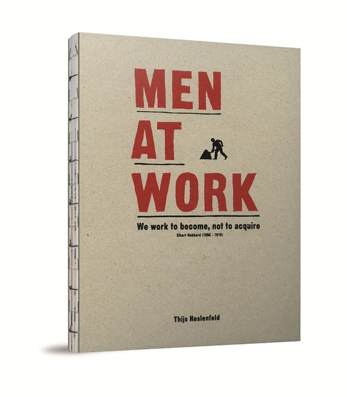 Men at work        	' Men at work ' portrays men from all over the world in their working environment. For a few book reviews, check out  photobook.com ,  moorsmagazine.com  (Dutch) and  cadoc.nl  (Dutch) or have a look at this  preview of the book  (PDF).      Thijs worked for almost 20 years on this project. The results are now published in this beautiful book, launched together with a solo exhibition in Amsterdam's Melkweg Gallery.     'Men at work' won a  Red Dot Award  in the category product design.        	 Published by Oost West Thijs Best, 80 pages, hardback with screenprinted cover, English      	txt, ISBN 9789081247009, price € 17,50       The book is available in local Dutch and Belgian bookstores and via  bol.com  and  cosmox.be .  You can also order on this website: click  here  if you live in The Netherlands or  here  if you live somewhere else on the planet. We use Paypal; if you don't have a PayPal account simply choose the option to pay with your creditcard.