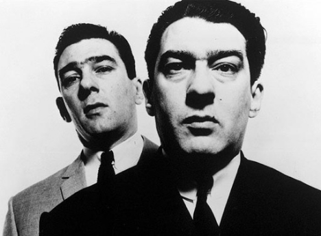 Bailey's iconic portrait of the Kray twins. Source: Guardian.