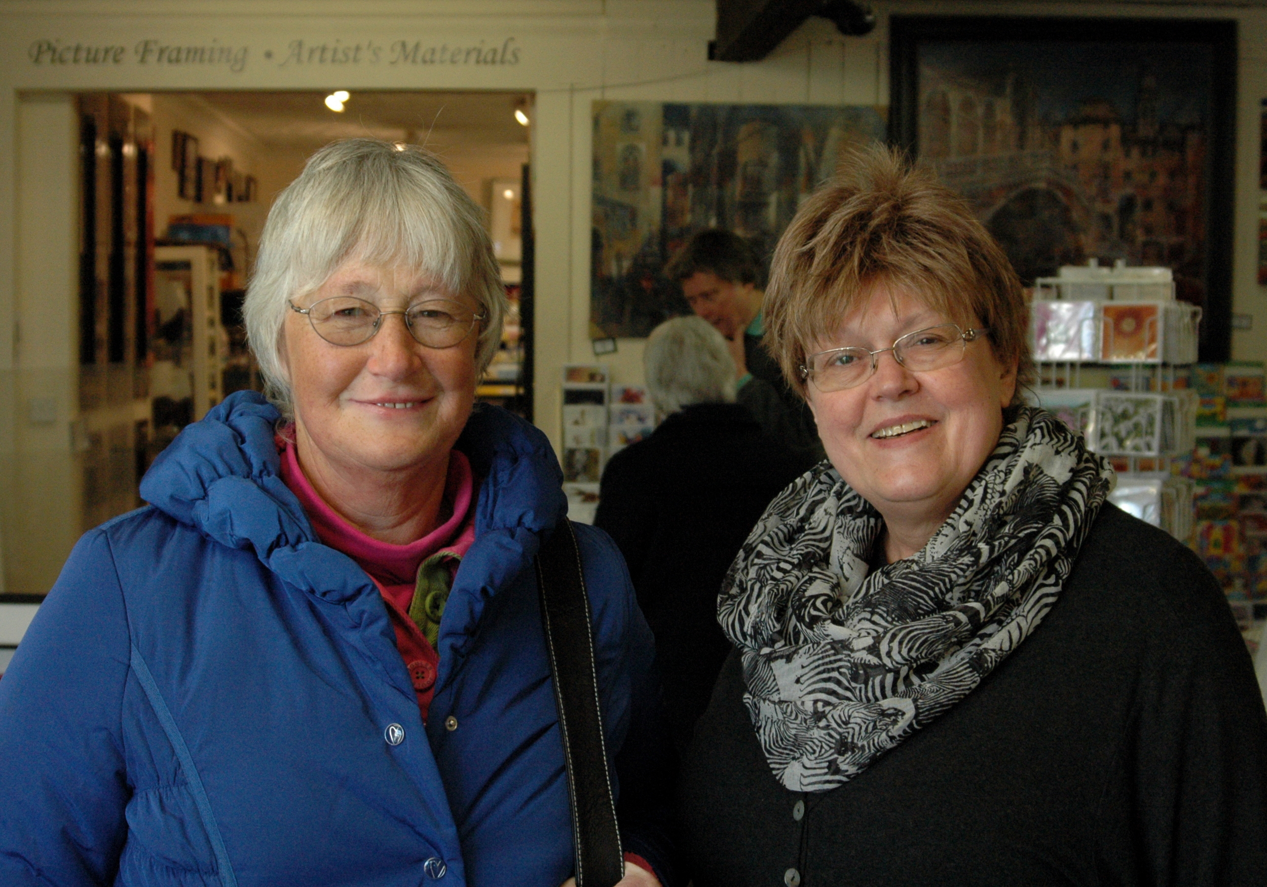 Mrs Christine Goodcliffe (left), a much valued customer next to Managing Director Liz Allison (right)