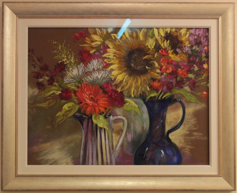 A beautiful floral still life by local artist Nel Whatmore