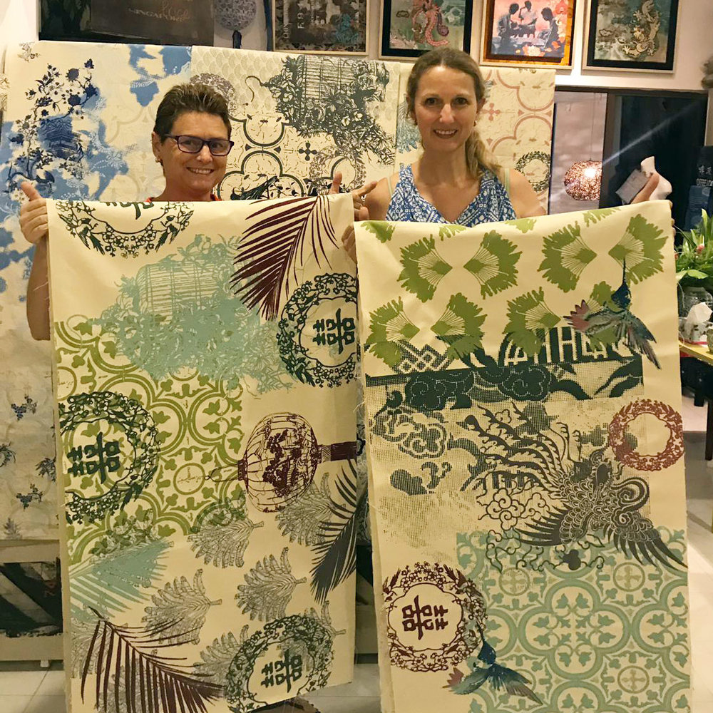 5-hour course - Spend a day in the art studio working on a table runner!