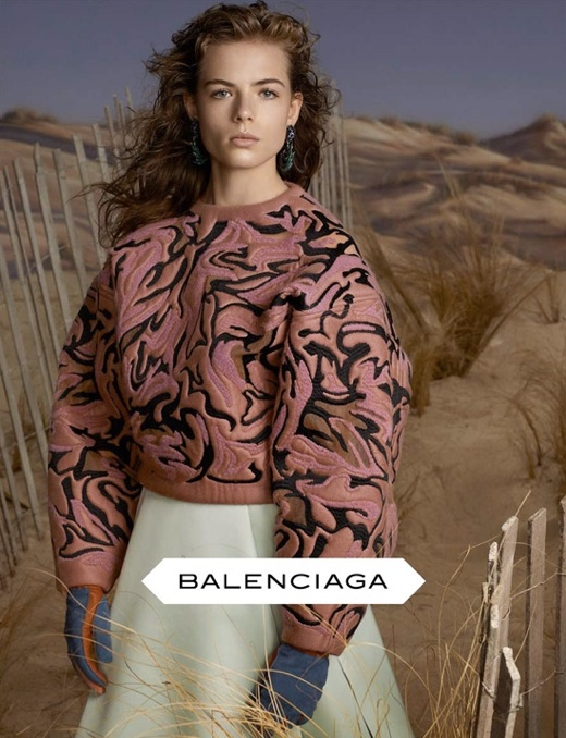 Balenciaga Ad Campaign  Photographed by Steven Meisel   Set Design by Mary Howard
