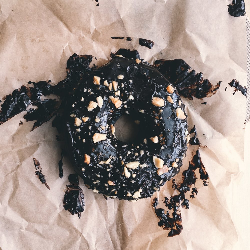 Chocolate Almond Ganache Donut -