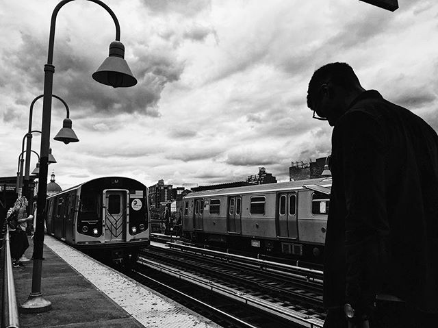 Waiting for the train. #nyc #blackandwhitephotography #vscocam #subway