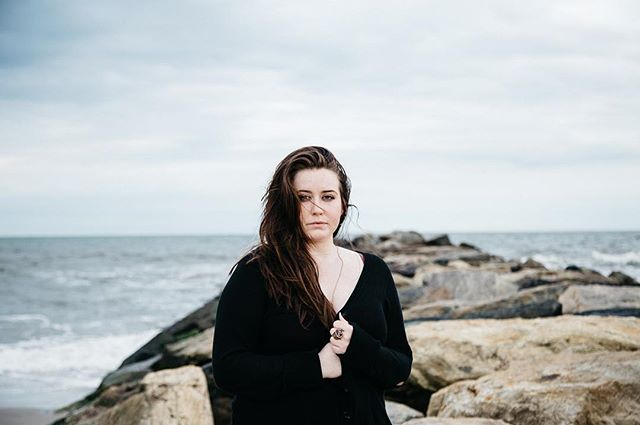 Beach.  Model: @melaniebrenae  #beach #NYC #rocks #portrait