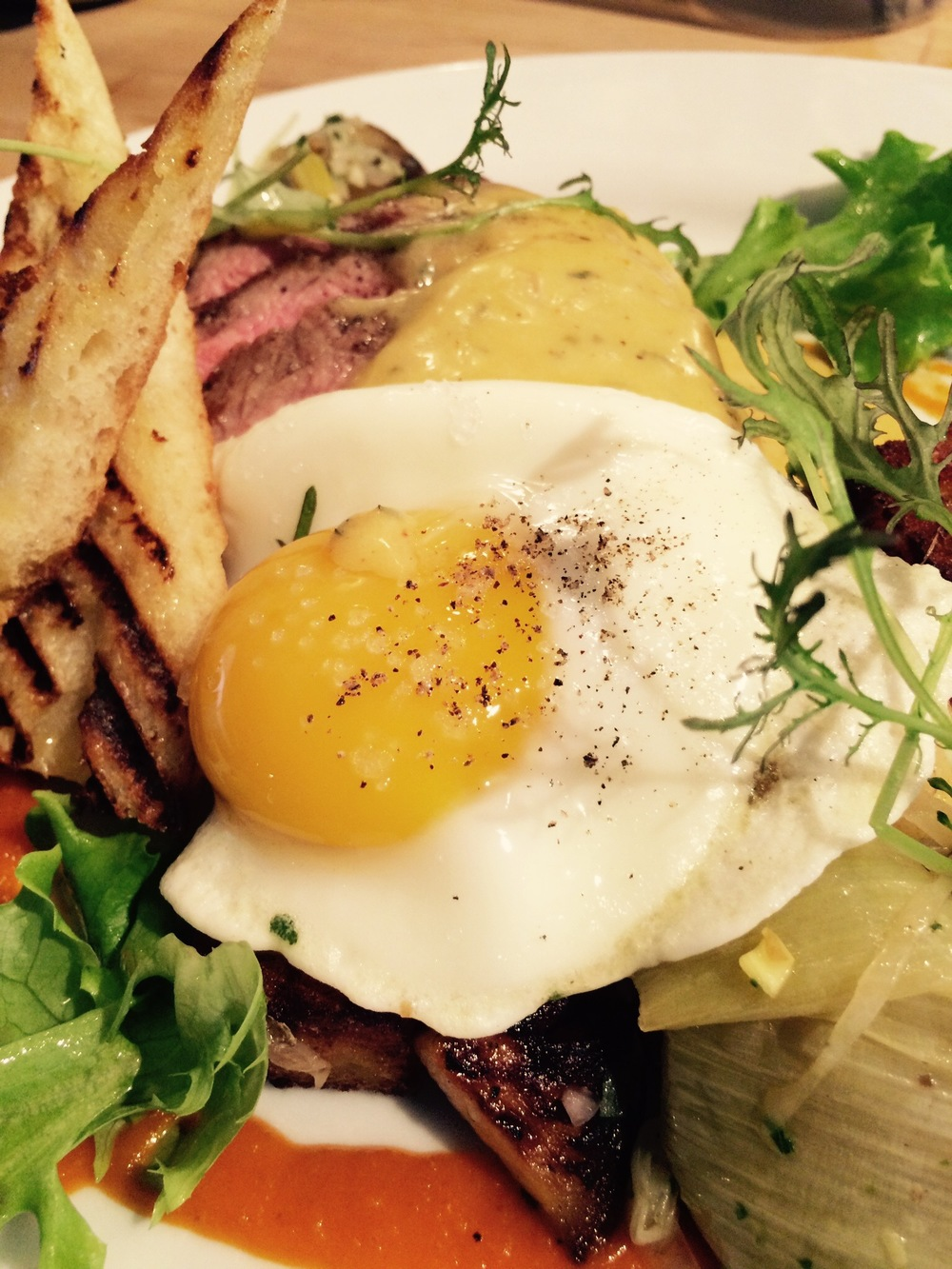 """steak and egg"""