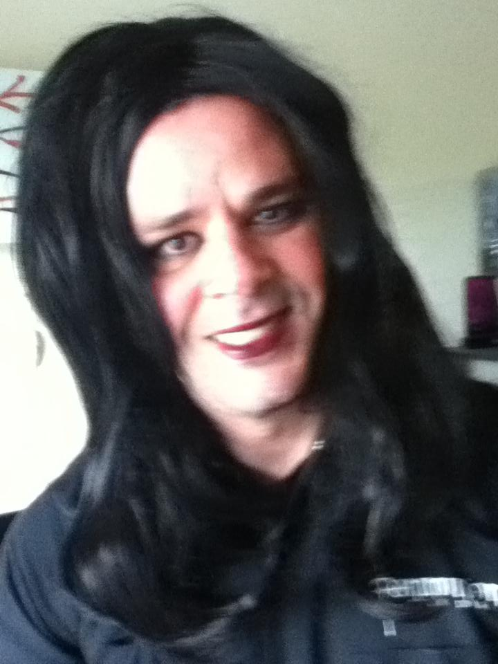This is Mark in a wig.