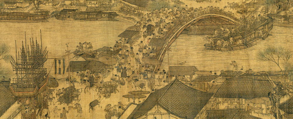'Life along the Bian River at the Qingming Festival': A detail of Zhang Zeduan's silk handscroll masterpiece (Northern Song Dynasty, 12th century) SOURCE: Japan Times