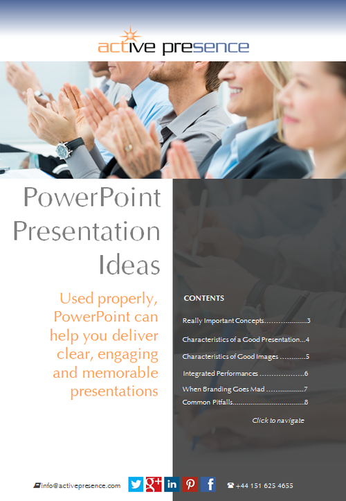 Presentation Design | Free Advice | PowerPoint Presentation Ideas