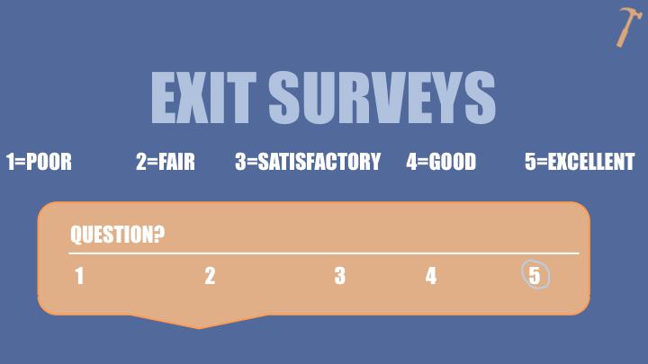facilitation tools - exit surveys