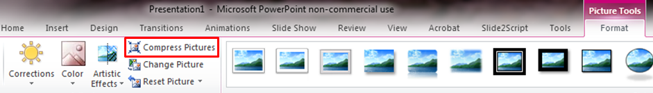 How to make your PowerPoint file size smaller