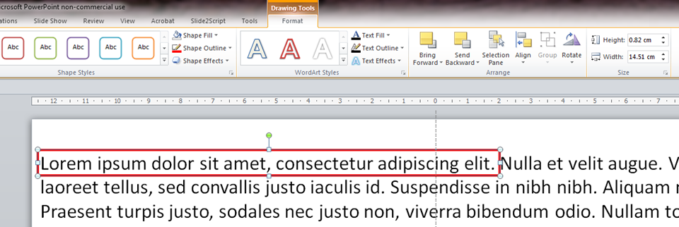 PowerPoint text highlighting