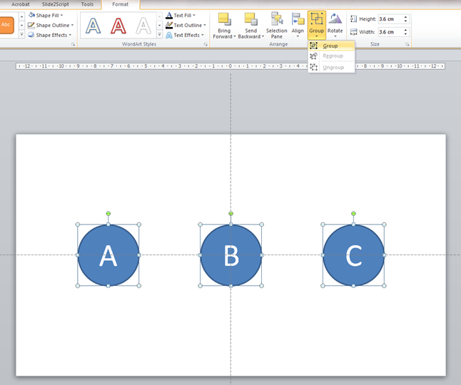 PowerPoint animation grouping